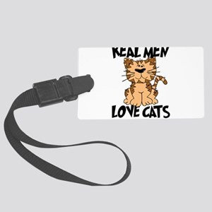 Real Men Love Cats Large Luggage Tag