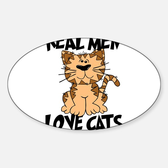 Real Men Love Cats Decal