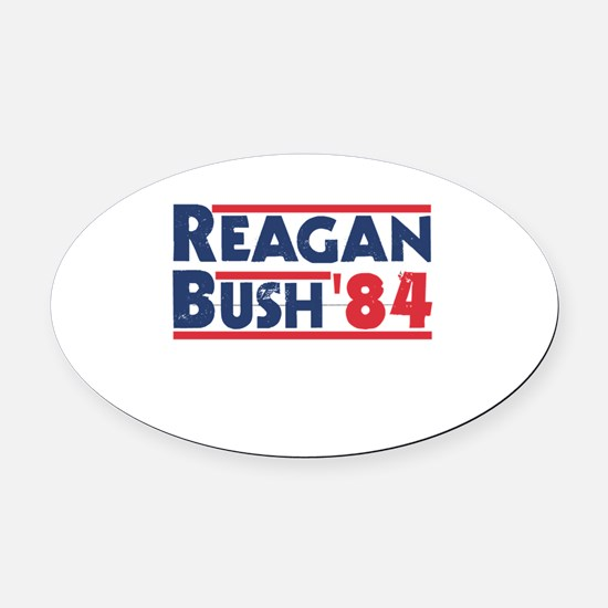 Reagan Bush '84 Oval Car Magnet