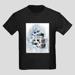 Soccer Ball Snowman Christmas T-Shirt