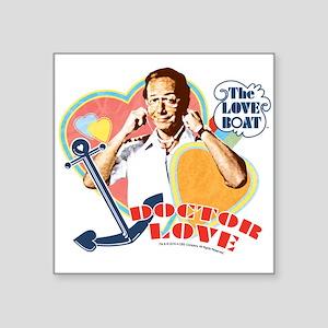 """Doctor Love Square Sticker 3"""" x 3"""""""