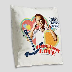 Doctor Love Burlap Throw Pillow