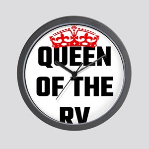 Queen Of The RV Wall Clock