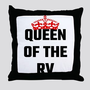 Queen Of The RV Throw Pillow
