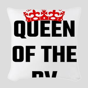 Queen Of The RV Woven Throw Pillow