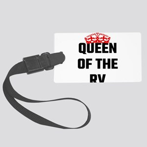 Queen Of The RV Large Luggage Tag
