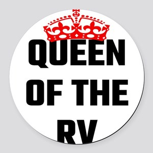 Queen Of The RV Round Car Magnet