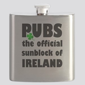 PUBS the official sunblock of IRELAND Flask