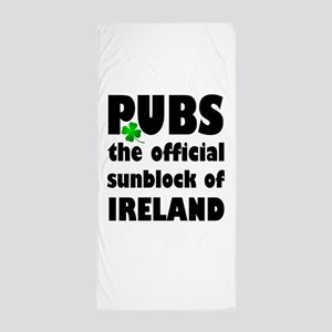 PUBS the official sunblock of IRELAND Beach Towel