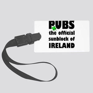 PUBS the official sunblock of IR Large Luggage Tag