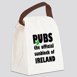 PUBS the official sunblock of IRE Canvas Lunch Bag