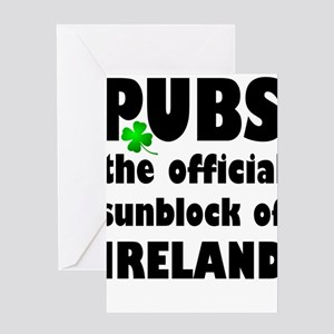 PUBS the official sunblock of IRELA Greeting Cards