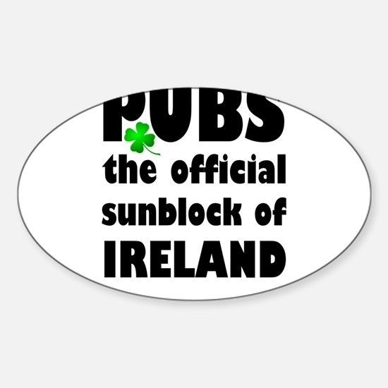 PUBS the official sunblock of IRELAND Decal