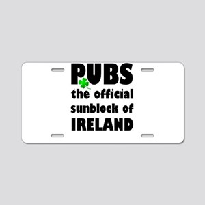 PUBS the official sunblock Aluminum License Plate