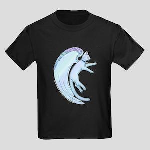 Angel Cat Picture Kids Dark T-Shirt