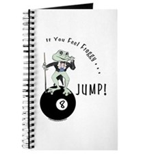 8 Ball Billiard Frog Cartoon Journal