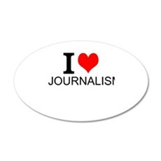 I Love Journalism Wall Decal