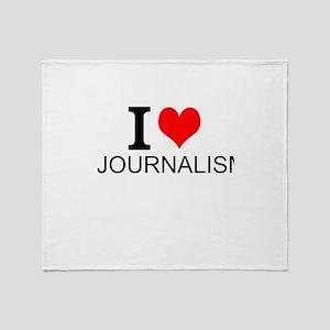 I Love Journalism Throw Blanket