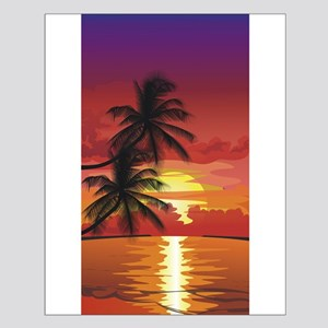 Palms at Sunset Small Poster