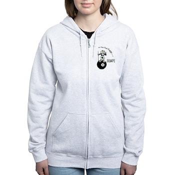 8 Ball Billiard Frog Women's Zip Hoodie Jacket