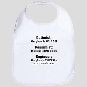 Optimist, Pessimist, Engineer Bib
