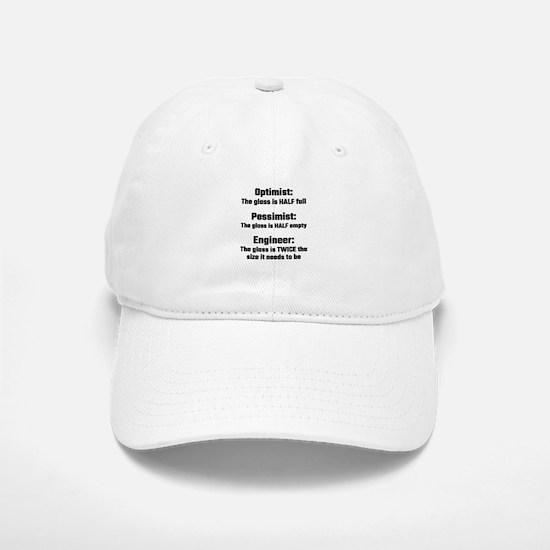 Optimist, Pessimist, Engineer Baseball Baseball Cap