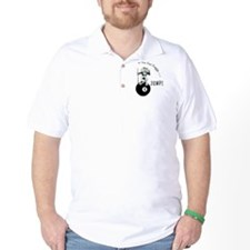8 Ball Billiard Frog Cartoon Golf Shirt