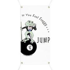 8 Ball Billiard Frog Cartoon Banner