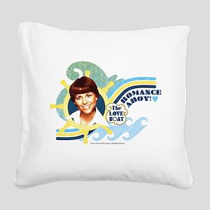 Romance Ahoy Square Canvas Pillow