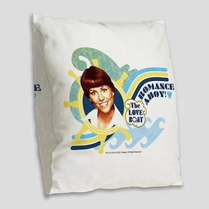 Romance Ahoy Burlap Throw Pillow