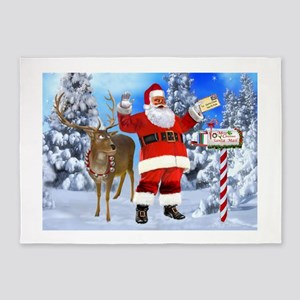 Santa Got Your Letter 5'x7'Area Rug