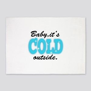 Baby It's Cold Outside 5'x7'Area Rug