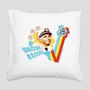 Welcome Aboard Square Canvas Pillow