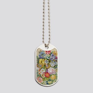 Flower Bouquet Painting Dog Tags