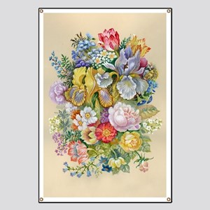Flower Bouquet Painting Banner