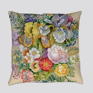 Flower Bouquet Painting Everyday Pillow