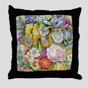 Flower Bouquet Painting Throw Pillow