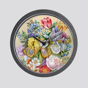 Flower Bouquet Painting Wall Clock