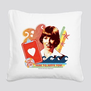 Here to Serve You! Square Canvas Pillow