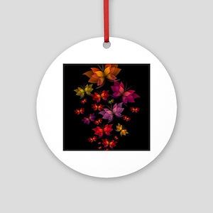 Digital Butterflies Round Ornament