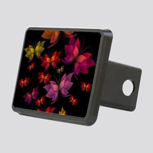 Digital Butterflies Rectangular Hitch Cover
