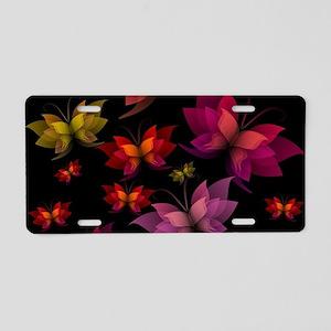 Digital Butterflies Aluminum License Plate