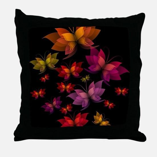 Digital Butterflies Throw Pillow
