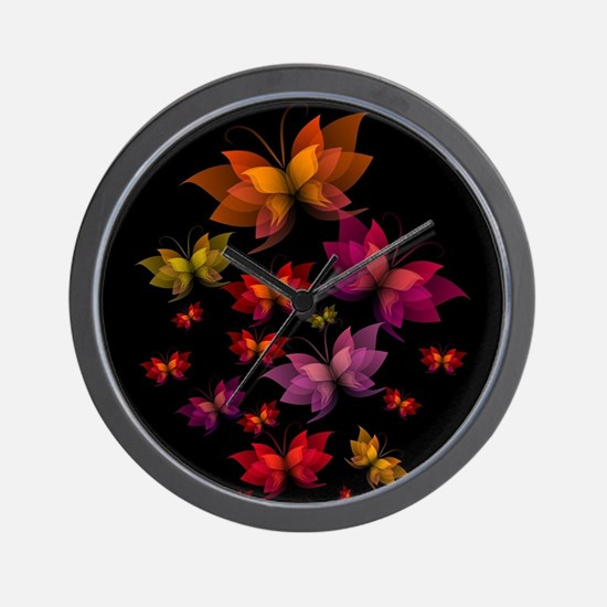 Digital Butterflies Wall Clock