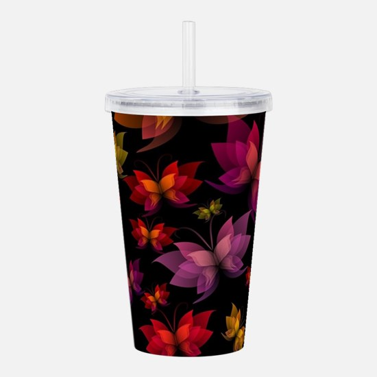 Digital Butterflies Acrylic Double-wall Tumbler