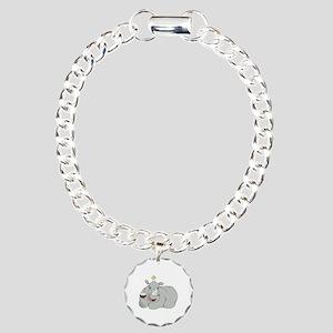 Rhino with Wineglass Bracelet