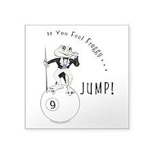 9 Ball Frog Cartoon Square Sticker 3