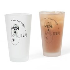 9 Ball Frog Cartoon Drinking Glass