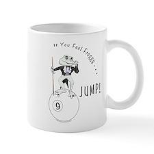 9 Ball Frog Cartoon Mug