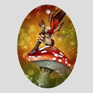 Autumn Fairy Oval Ornament